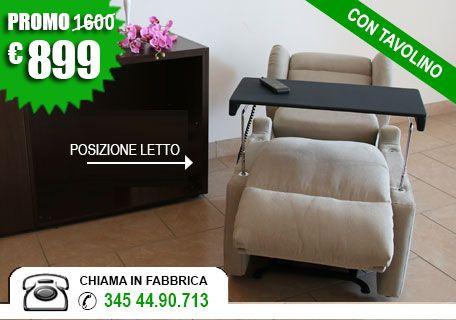 3be28c8083 Poltrone reclinabili con 2 motori (€ 899 consegna a casa)